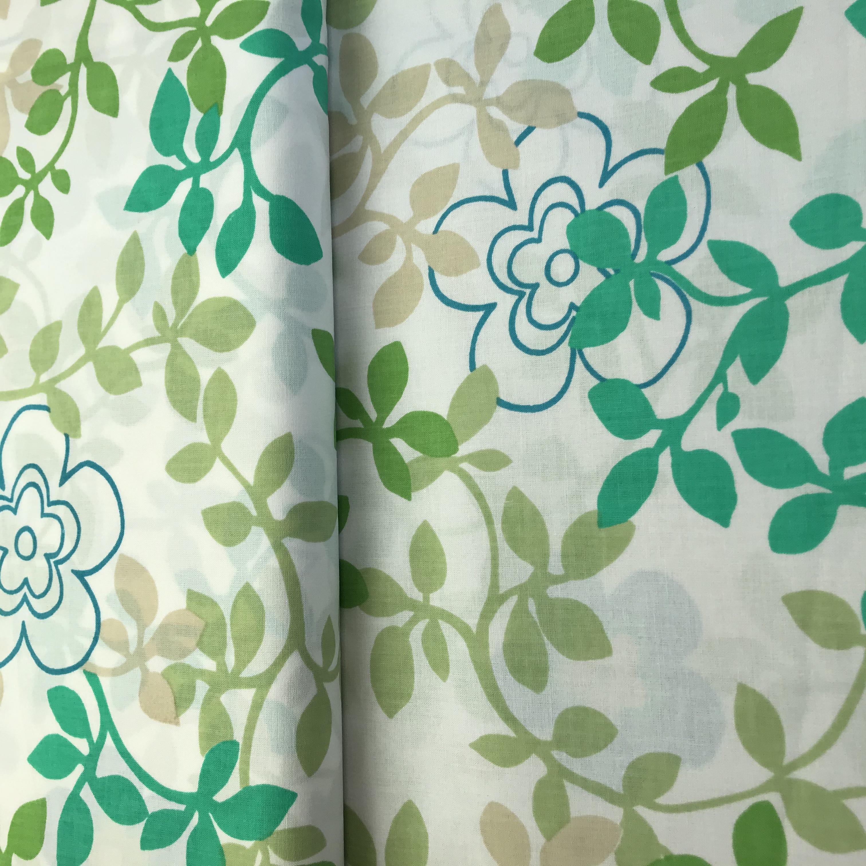 Diana- zelenomodrý kvìtinový vzor na bílé - zvìtšit obrázek